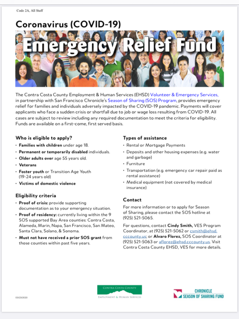 Emergency Relief Fund Information